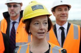 Julia Gillard hardhat