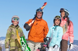 The Jones family in happier times, on January's Aspen holiday.